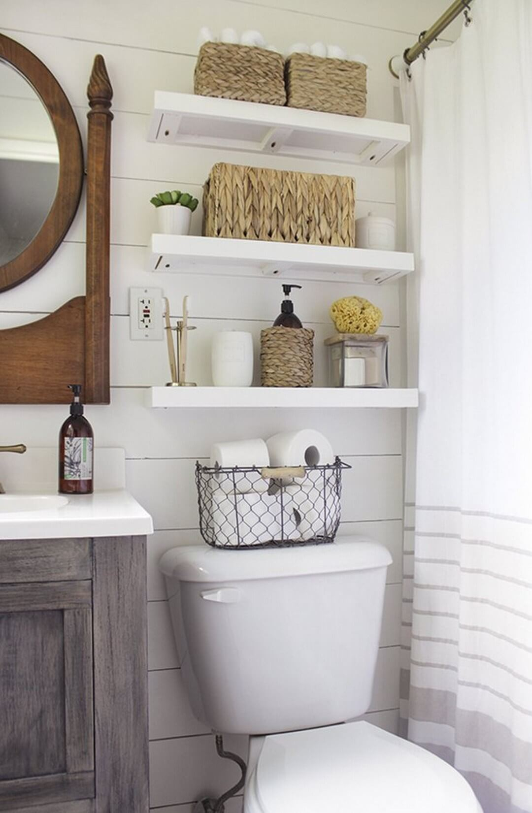 32 Best Over The Toilet Storage Ideas And Designs For 2019 intended for measurements 1080 X 1651