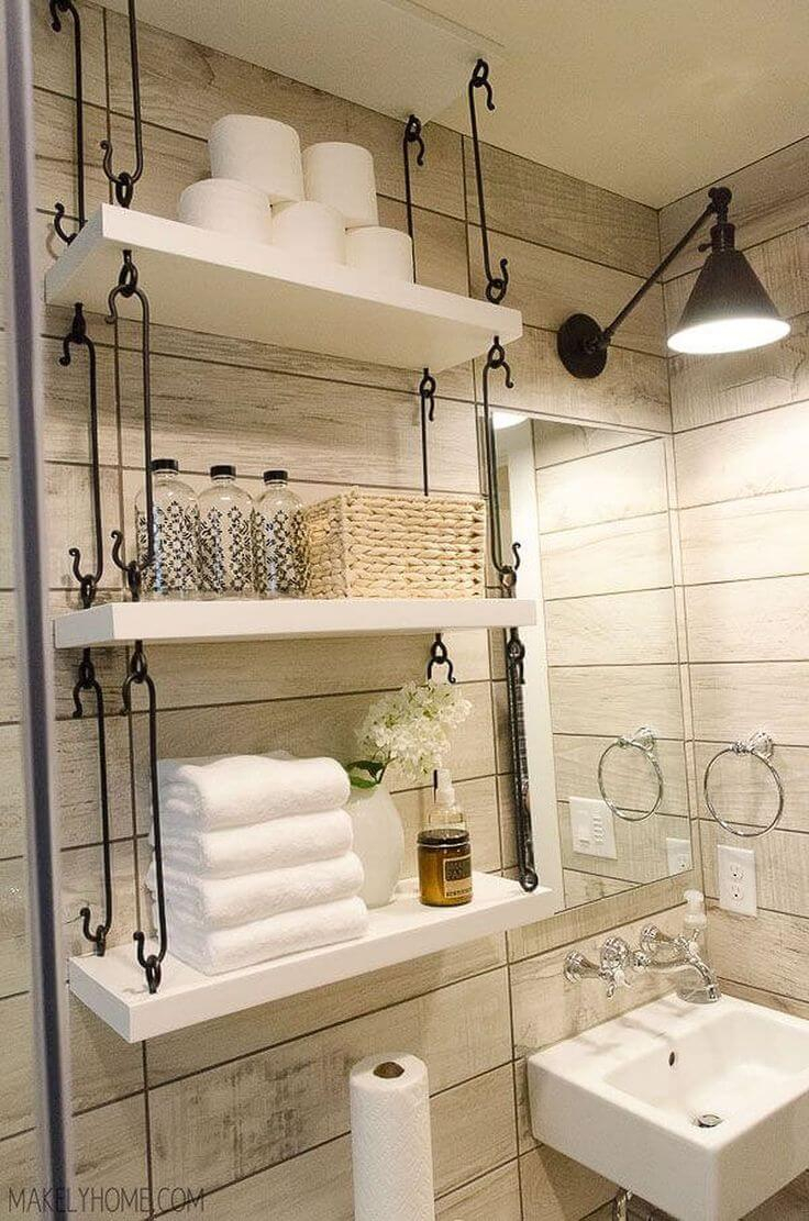 32 Best Over The Toilet Storage Ideas And Designs For 2019 intended for sizing 736 X 1111