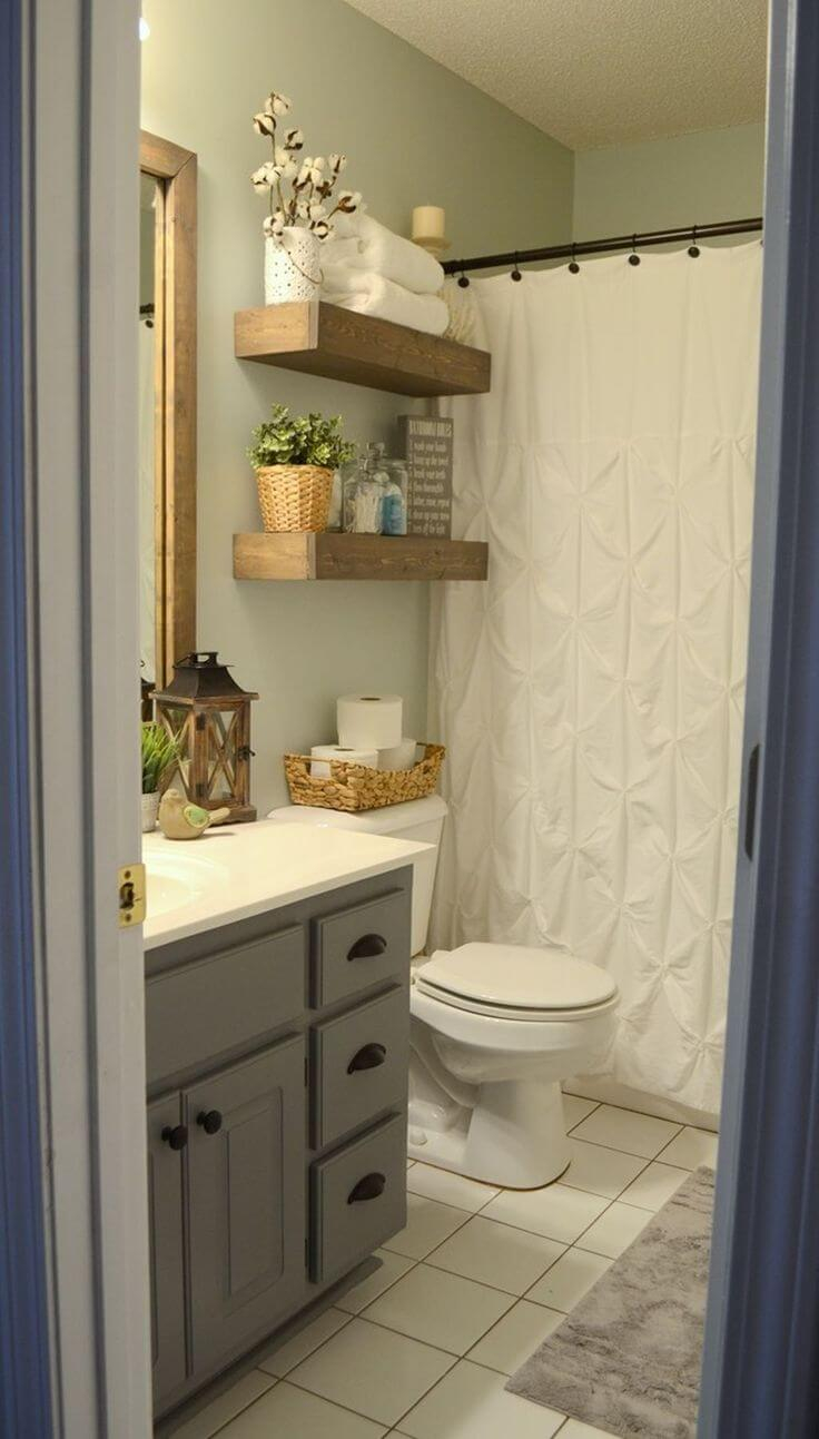32 Best Over The Toilet Storage Ideas And Designs For 2019 pertaining to dimensions 736 X 1293
