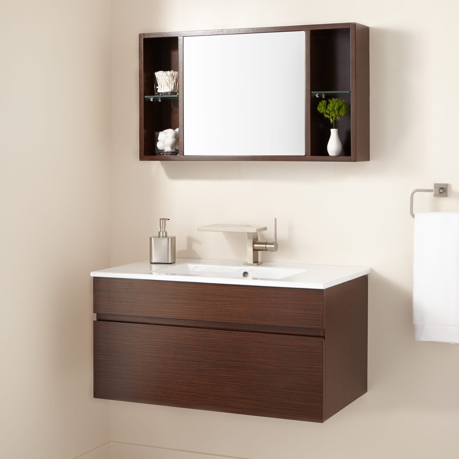 33 Dimitri Wall Mount Vanity And Mirrored Storage pertaining to measurements 1500 X 1500