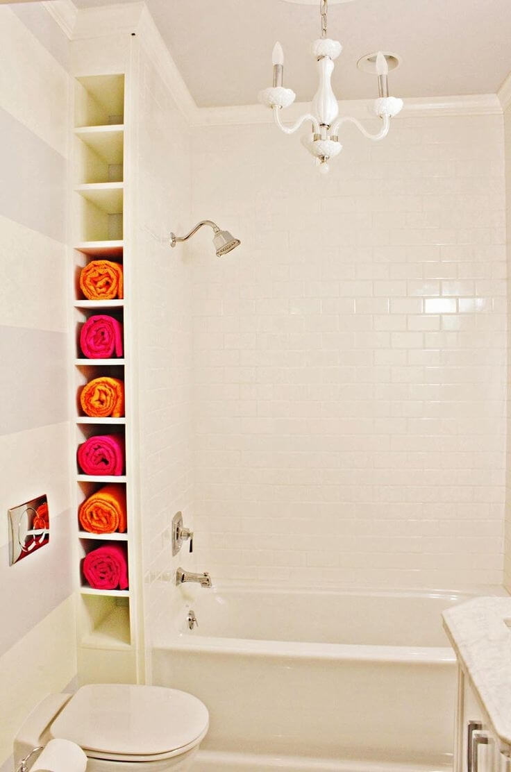 34 Best Towel Storage Ideas And Designs For 2019 regarding size 736 X 1112