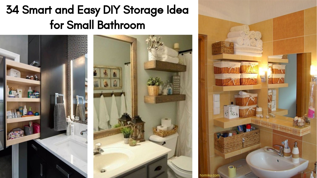 34 Smart And Easy Diy Storage Idea For Small Bathroom throughout measurements 1280 X 720