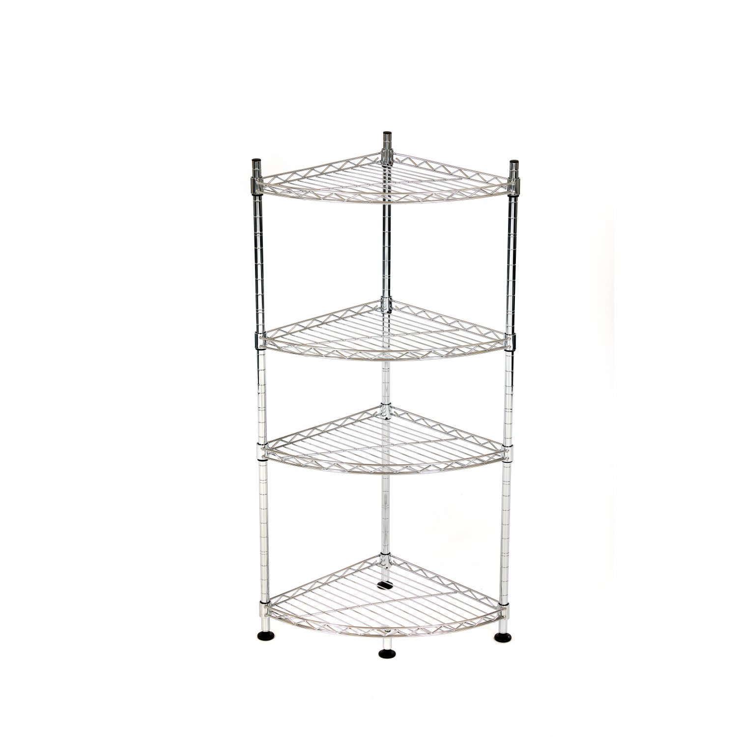 4 Tier Heavy Duty Steel Wire Rack Bathroom Corner Storage Unit throughout dimensions 1500 X 1500