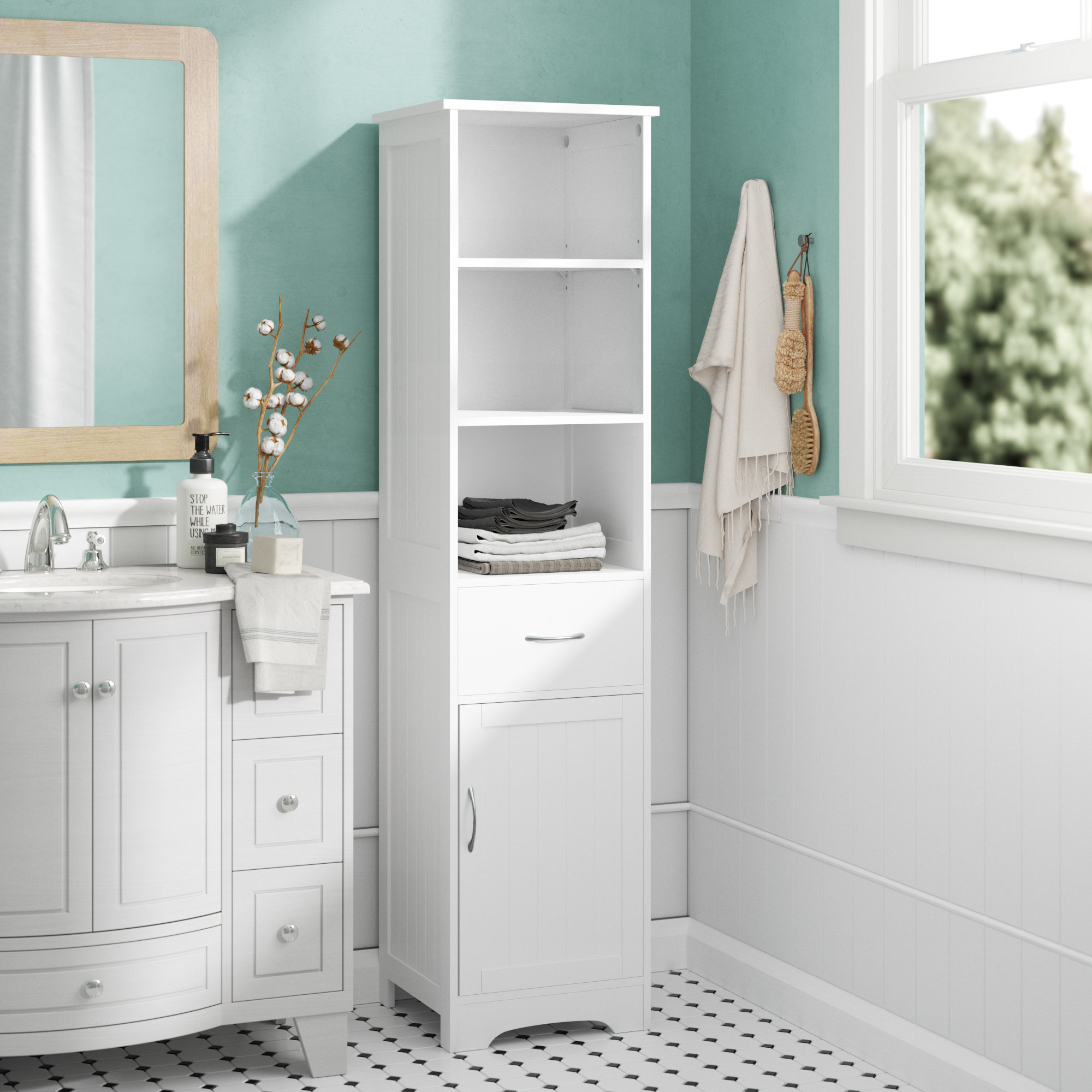 40 X 160cm Free Standing Tall Bathroom Cabinet intended for dimensions 2000 X 2000