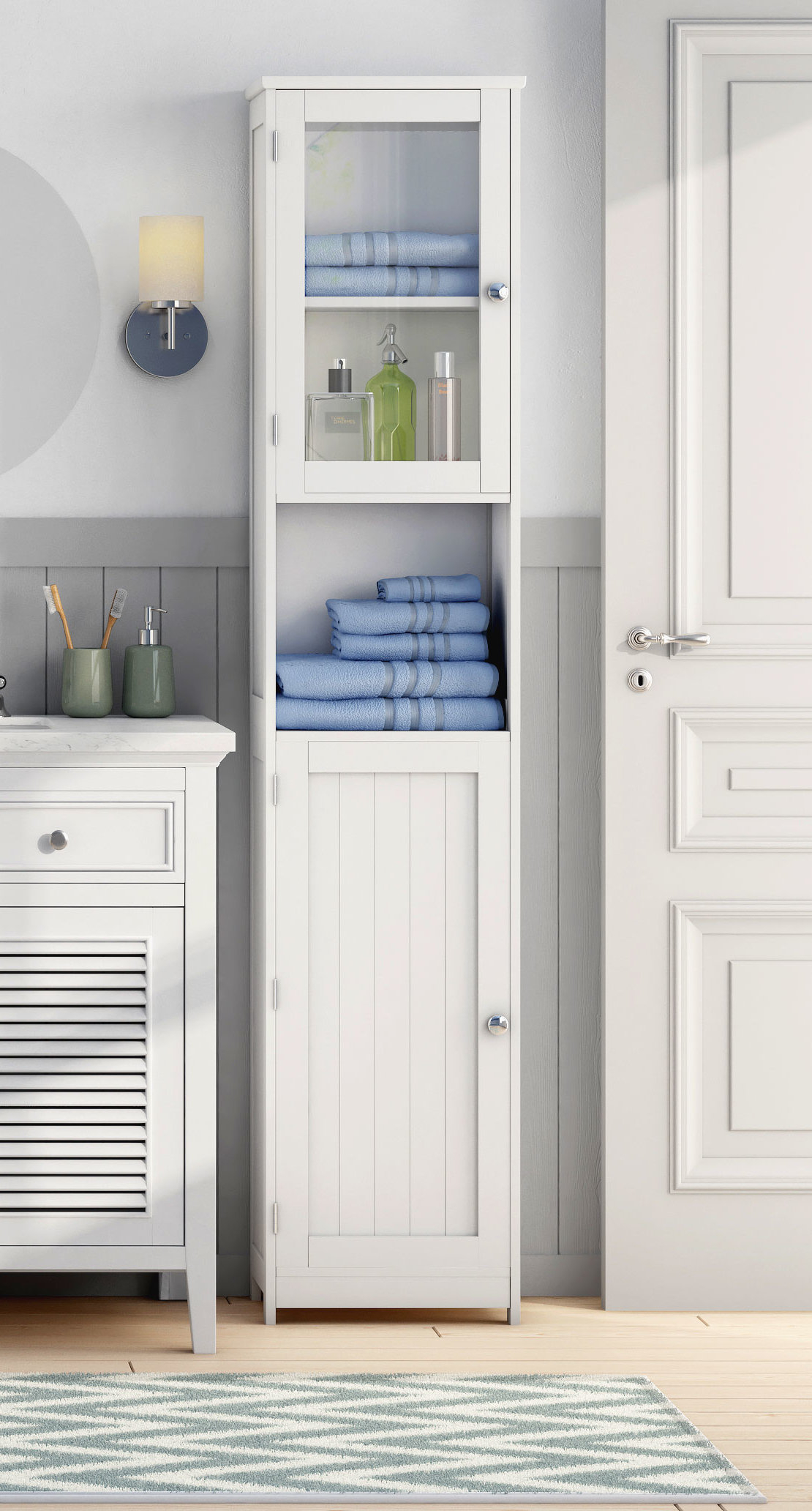40 X 189cm Free Standing Tall Bathroom Cabinet with regard to sizing 1110 X 2064