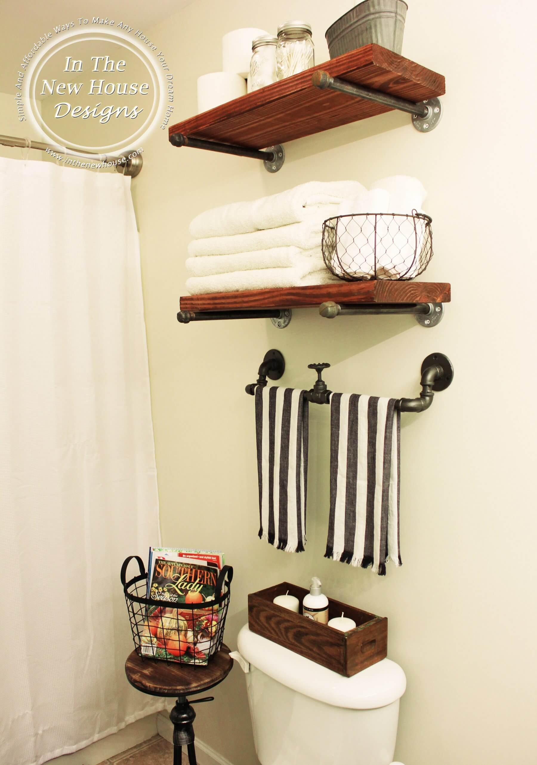 42 Best Diy Bathroom Storage And Organizing Ideas For 2019 pertaining to size 1800 X 2562