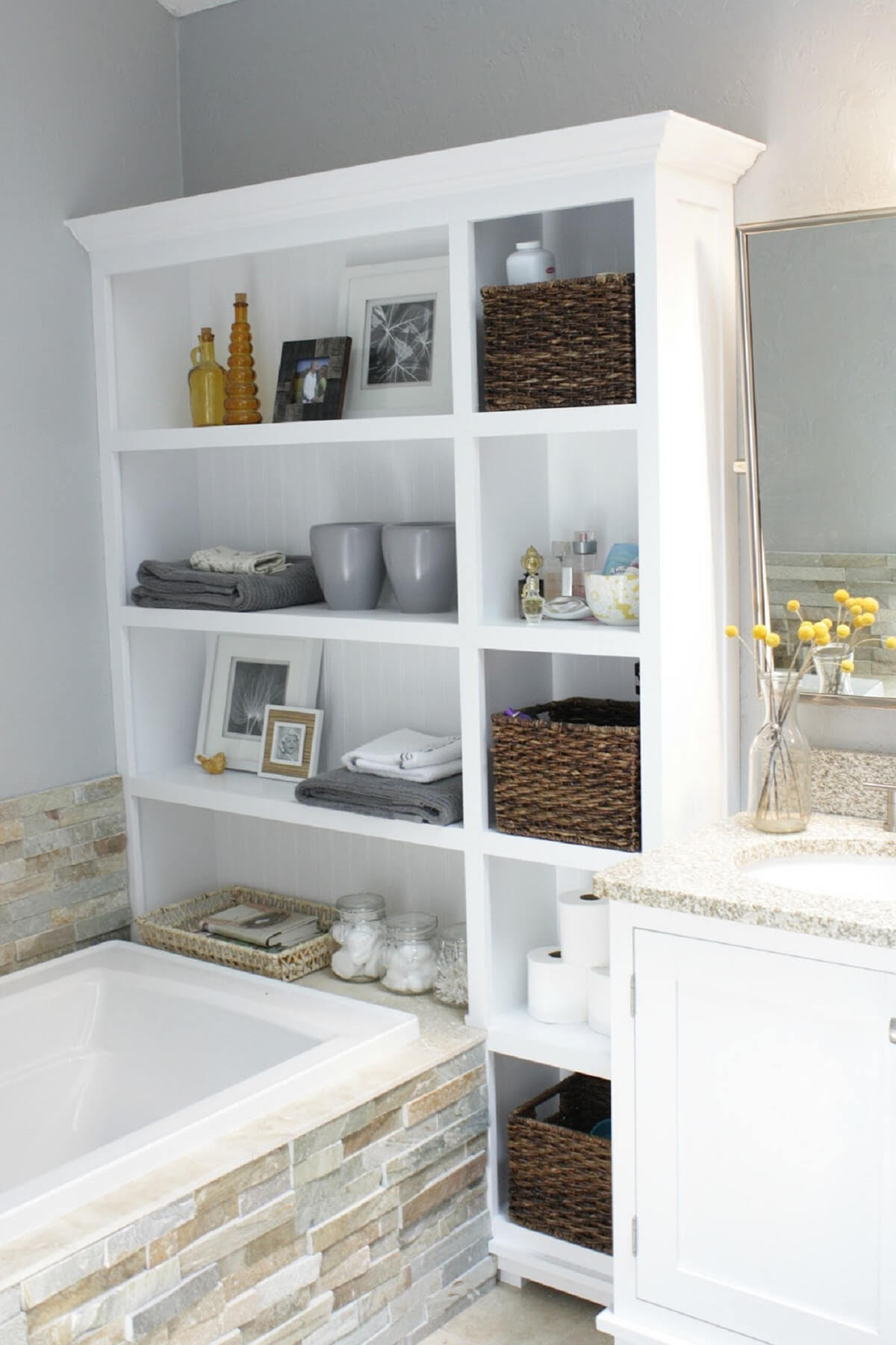 44 Best Small Bathroom Storage Ideas And Tips For 2019 for size 1200 X 1801