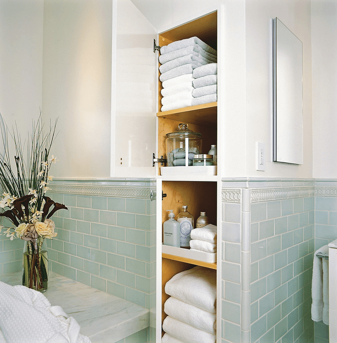 44 Best Small Bathroom Storage Ideas And Tips For 2019 in sizing 1103 X 1122
