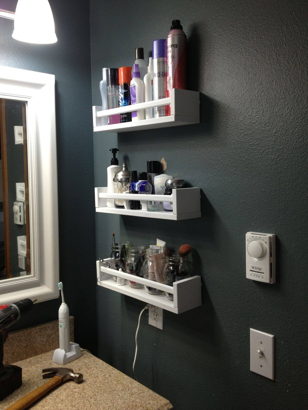 44 Best Small Bathroom Storage Ideas And Tips For 2019 regarding size 1200 X 1600