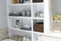 44 Best Small Bathroom Storage Ideas And Tips For 2019 throughout size 1200 X 1801