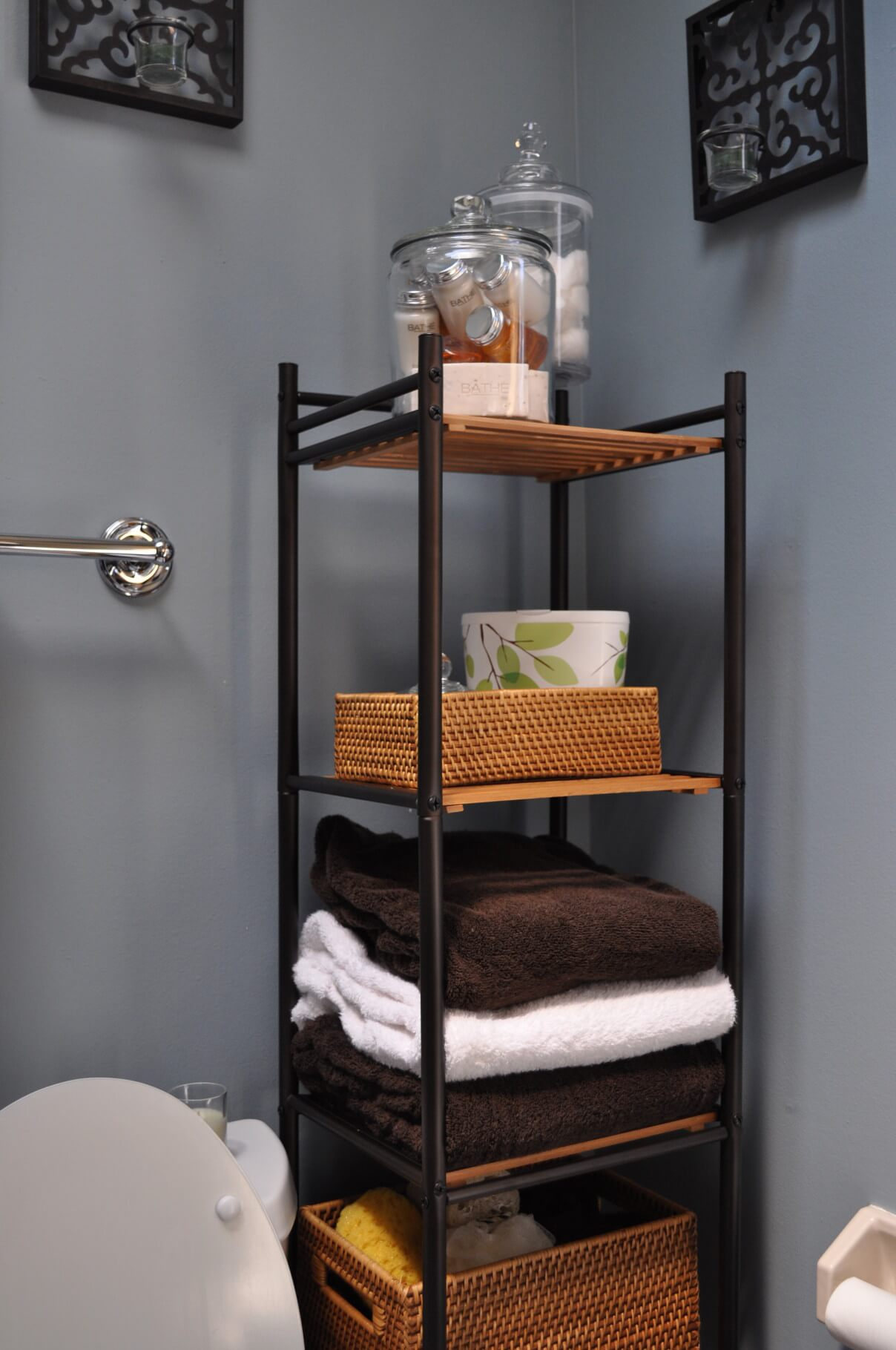 44 Best Small Bathroom Storage Ideas And Tips For 2019 with sizing 1208 X 1819