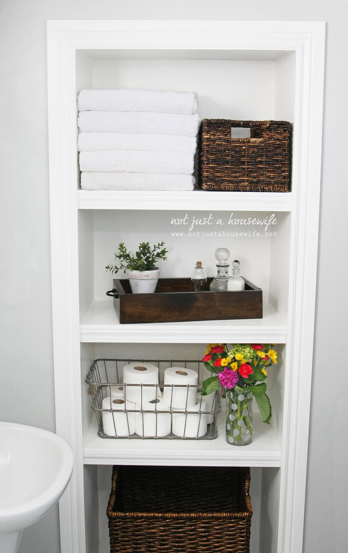 44 Best Small Bathroom Storage Ideas And Tips For 2019 within size 1200 X 1909