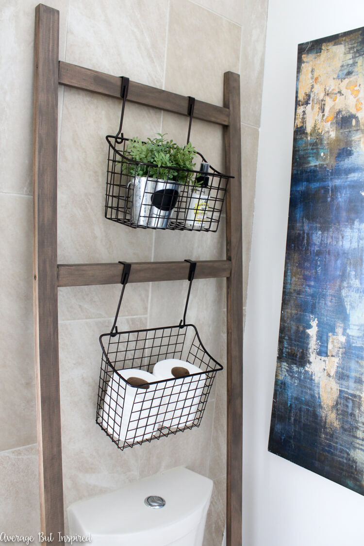45 Best Hanging Bathroom Storage Ideas For 2019 inside proportions 750 X 1125