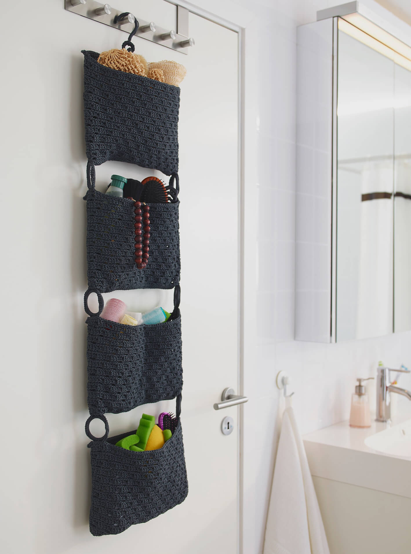 45 Best Hanging Bathroom Storage Ideas For 2019 throughout measurements 1418 X 1910
