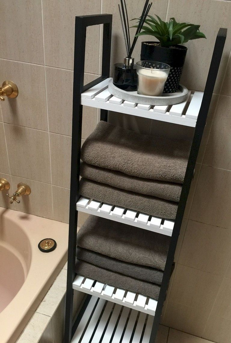 46 Charming Small Bathroom Storage Remodel Ideas Bathroom throughout size 768 X 1139
