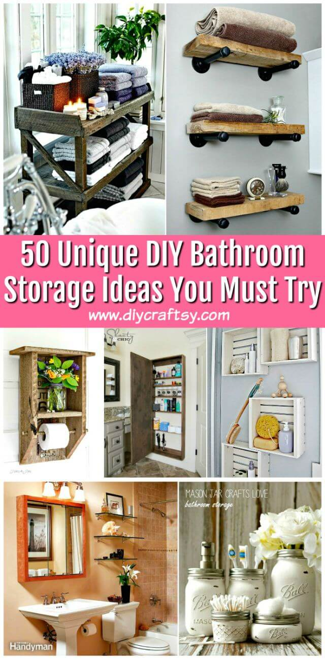 50 Unique Diy Bathroom Storage Ideas You Must Try Diy Crafts for dimensions 640 X 1298