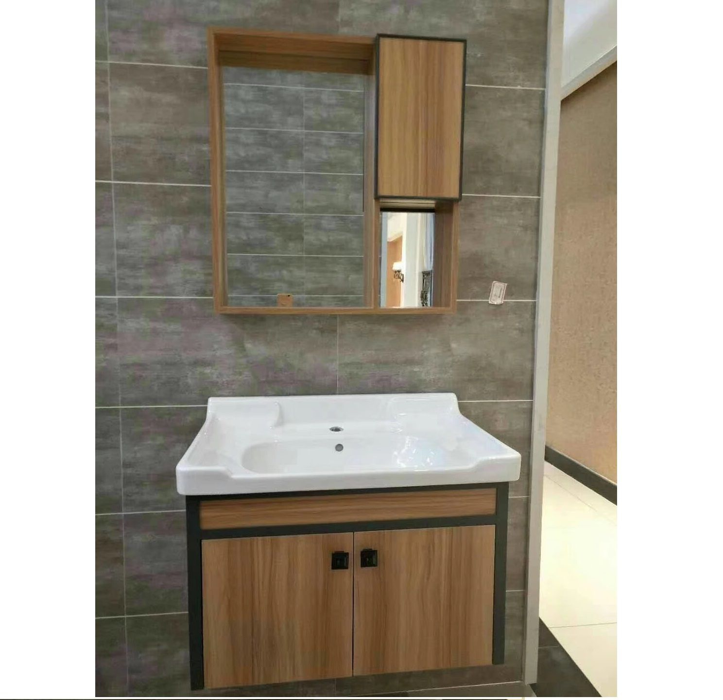 70cm Bathroom Storage Cabinet With Side Cabinet Wood Pattern regarding size 1488 X 1440