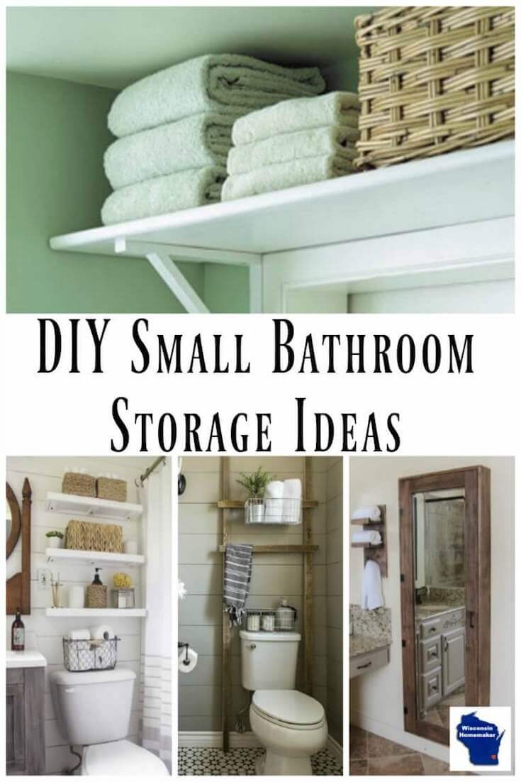 8 Great Diy Small Bathroom Storage Ideas Wisconsin Homemaker throughout proportions 735 X 1102