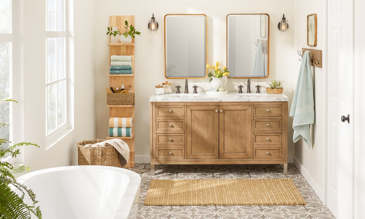 9 Small Bathroom Storage Ideas That Cut The Clutter with size 1250 X 750