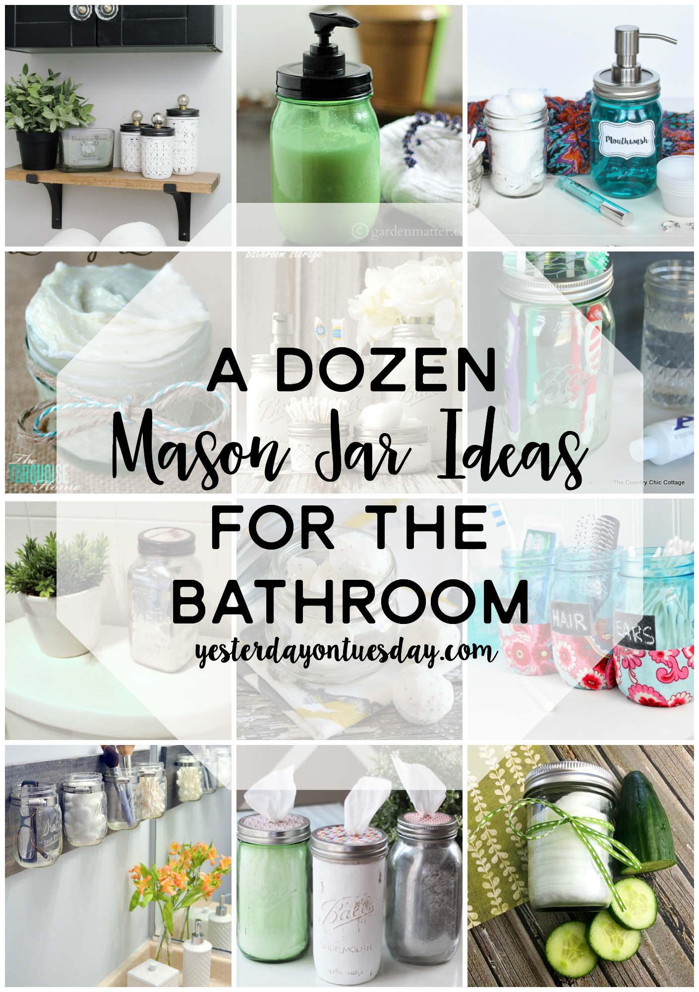 A Dozen Mason Jar Ideas For The Bathroom Yesterday On Tuesday within sizing 1410 X 2000
