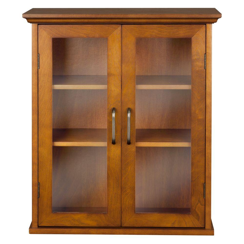 Aida 20 12 In W X 24 In H X 8 12 In D Bathroom Storage Wall Cabinet In Oil Oak Color regarding proportions 1000 X 1000