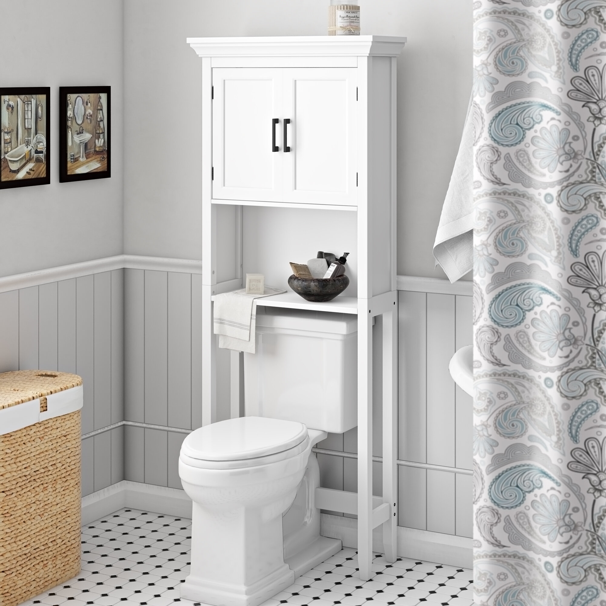 Alabama 27 W X 67 H Over The Toilet Storage for size 2000 X 2000