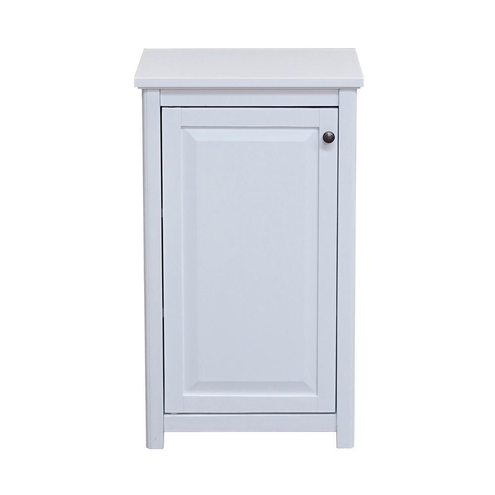Alaterre Furniture Dorset 17 In W X 29 In H Freestanding Floor Bath Storage Cabinet With Door In White pertaining to measurements 1000 X 1000