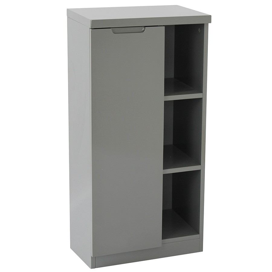 Alzora Bathroom Storage Cabinet Grey intended for size 900 X 900