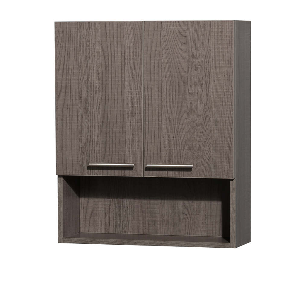 Amare Over Toilet Wall Cabinet Wyndham Collection Gray Oak within dimensions 1000 X 1000