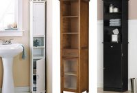 Amazing Narrow Bathroom Cabinets 1 Tall Narrow Bathroom intended for dimensions 1024 X 775