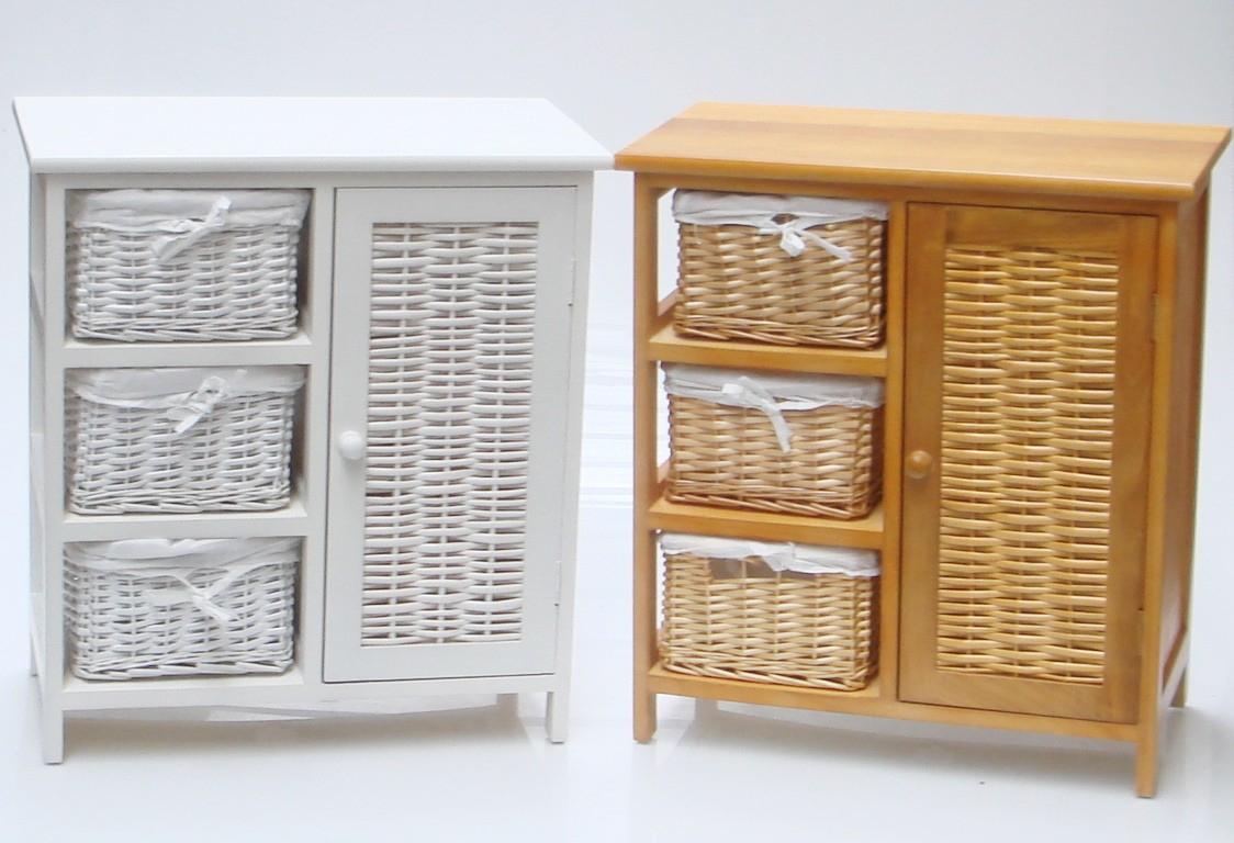 Amazing Wicker Bathroom Storage Room Cupboard Cabinet Unit with regard to sizing 1124 X 768