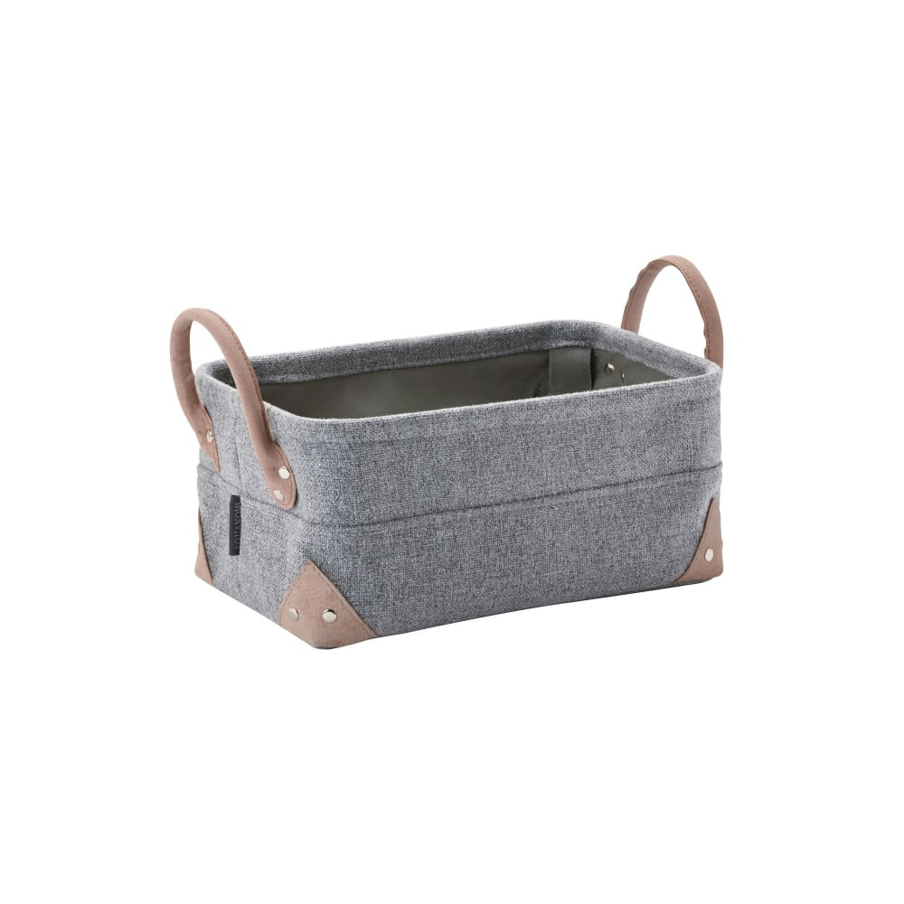 Aquanova Lubin Bathroom Storage Basket Small Silver Grey within proportions 1000 X 1000
