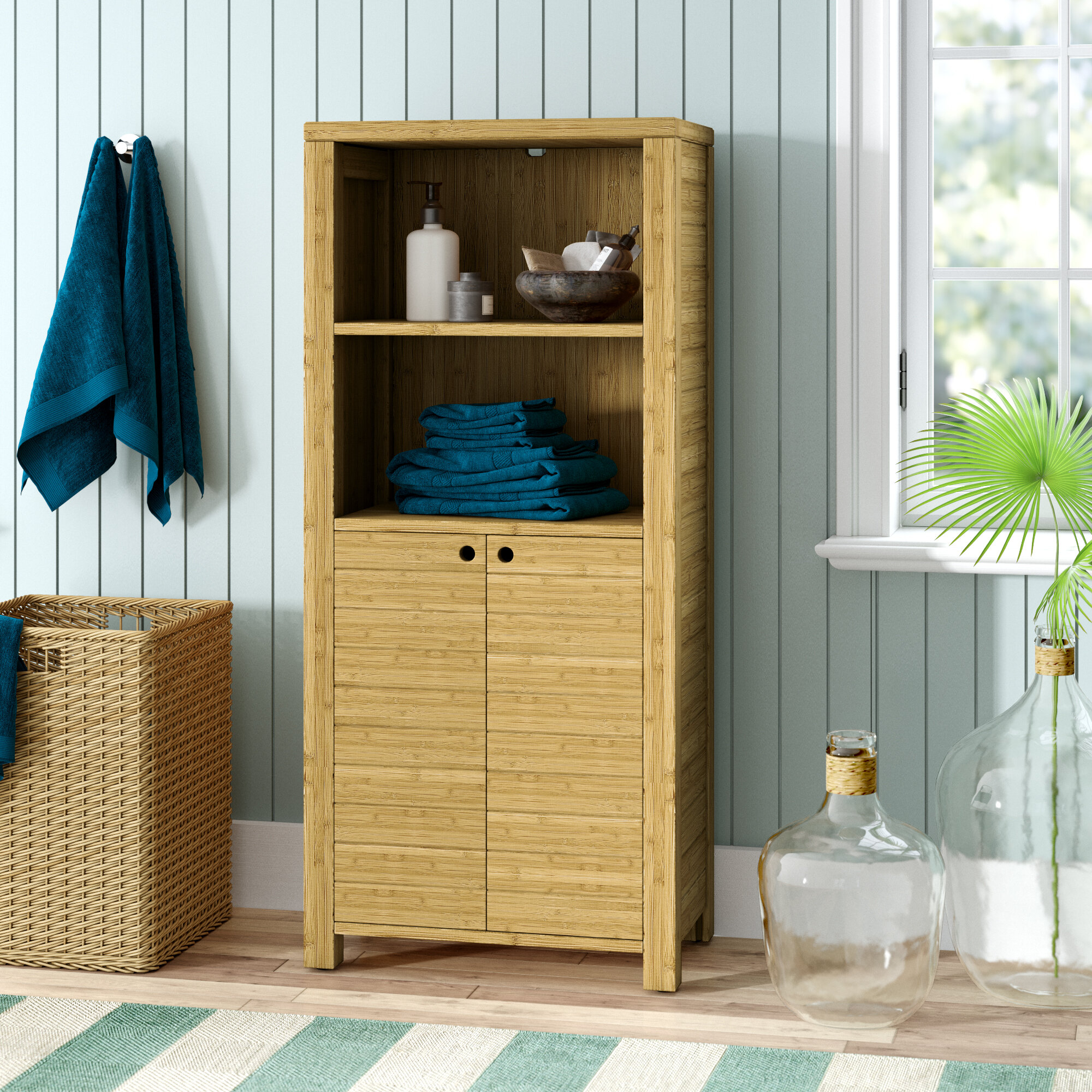 Bamboo Cabinet Bathroom Cabinets Shelving Youll Love In with regard to proportions 2000 X 2000