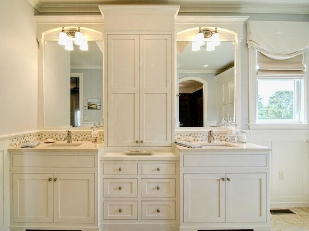 Bath Storage Cabinets Bathroom Vanities With Tower Vanity regarding sizing 1024 X 768