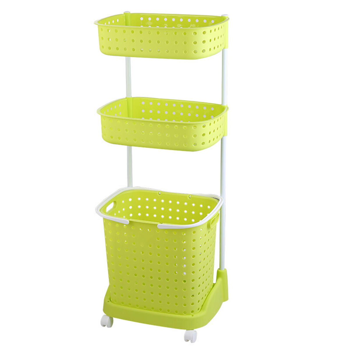 Bathroom Laundry Clothes Storage Baskets Bin Hamper Mobile Rack Removable Shelf 23 Tier with measurements 1200 X 1200