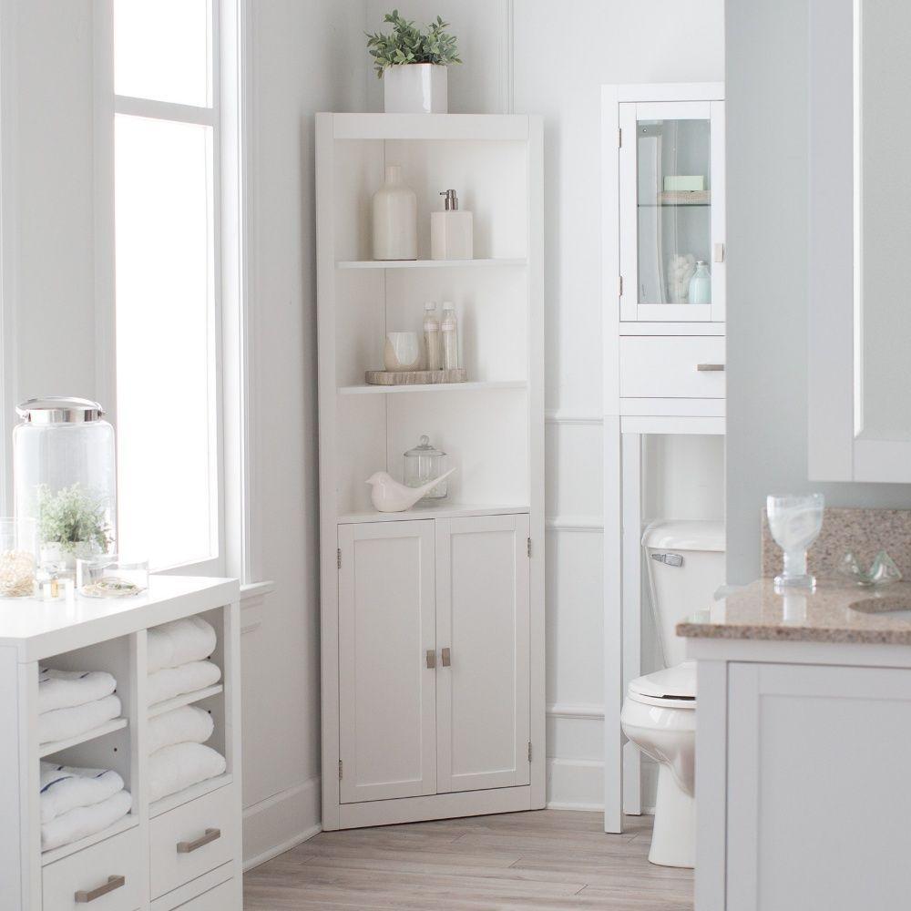 Bathroom Linen Cabinet Tower Corner Bath Storage Organizer inside proportions 1000 X 1000
