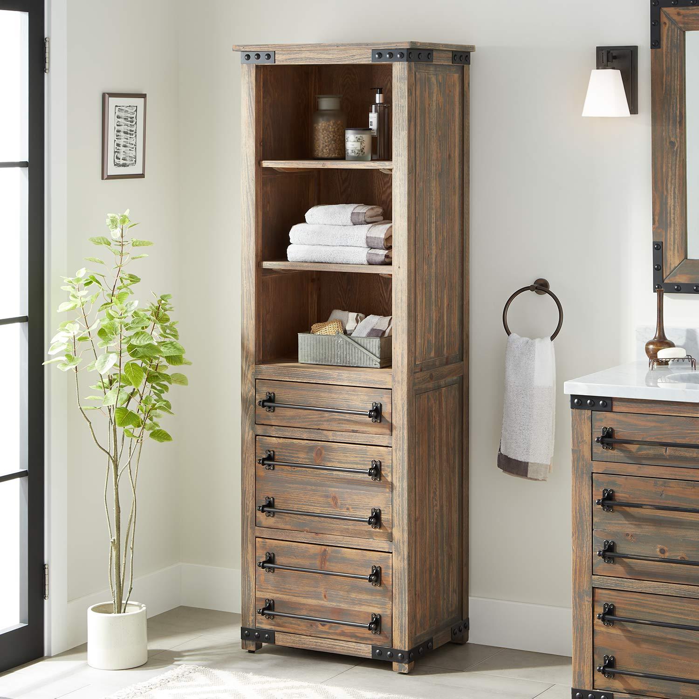 Bathroom Storage Cabinet Signature Hardware within dimensions 1500 X 1500