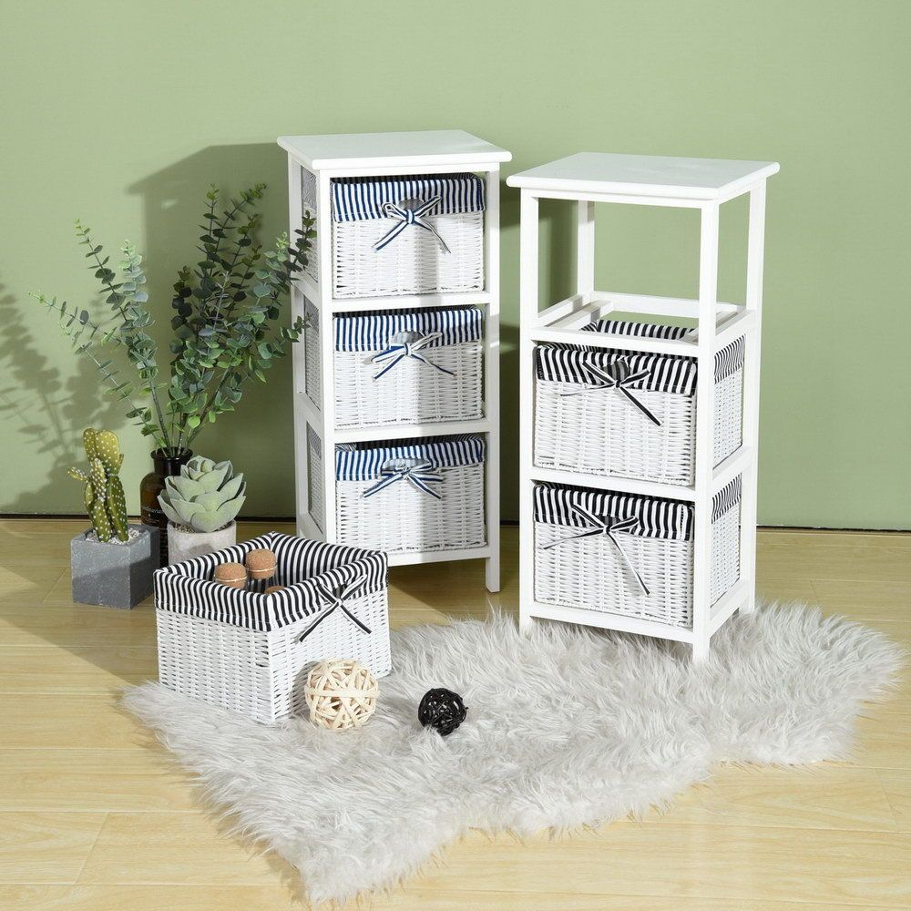Bathroom Storage Cabinet With 3 Tier Wicker Basket Bedroom inside sizing 1000 X 1000