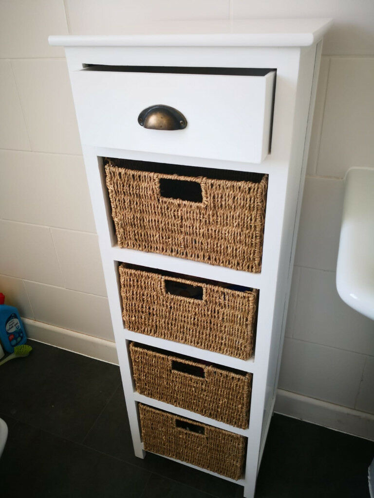 Bathroom Storage Cabinet With 4 Wicker Baskets In Bury Manchester Gumtree with regard to dimensions 768 X 1024