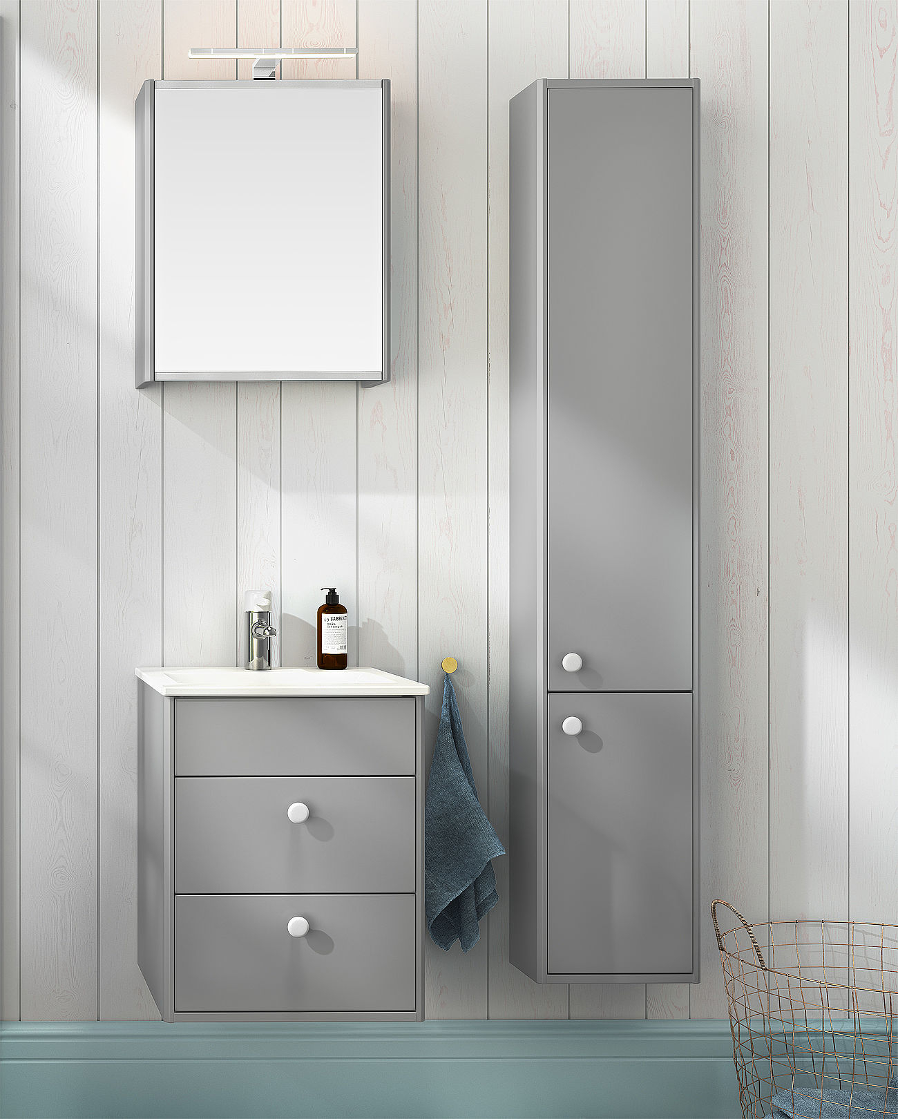 Bathroom Storage Graphic High Cabinet Shallow Zzd Gctc16 inside measurements 1300 X 1620