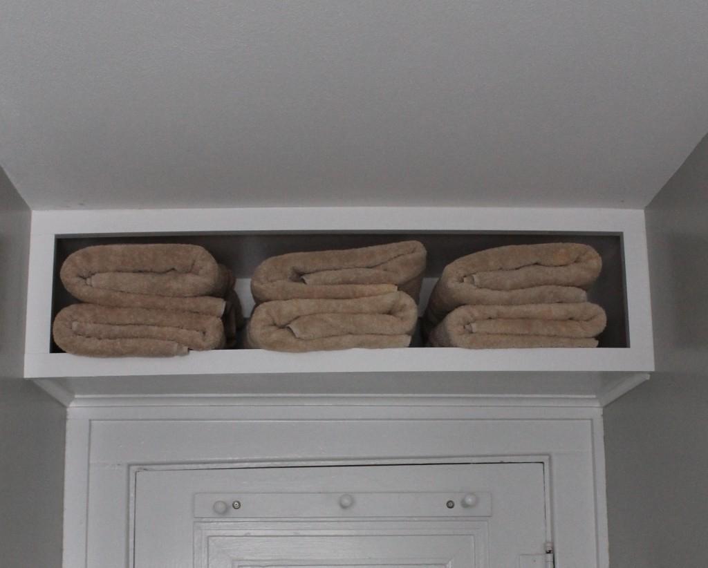 Bathroom Towel Storage Over Toilet Little Pink Home Designs regarding dimensions 1024 X 822