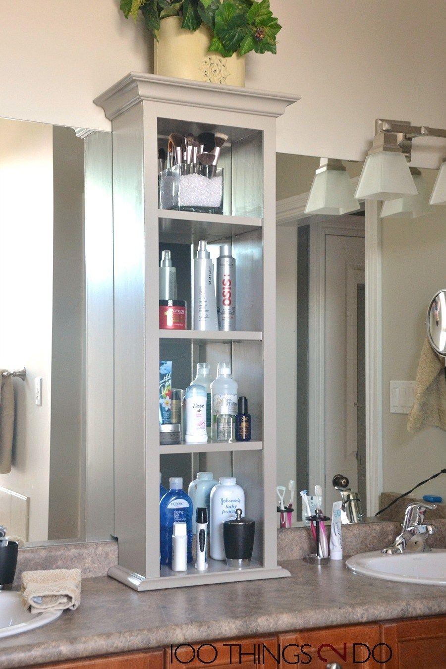 Bathroom Vanity Storage Bathroom Storage Tower for measurements 900 X 1350