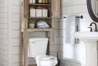 Better Homes Gardens Northampton Over The Toilet Bathroom Space Saver Rustic Gray Finish throughout size 2000 X 2000