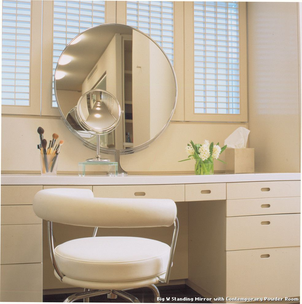 Big W Standing Mirror Tablecloth Wooden Vanity Mirror pertaining to proportions 984 X 990