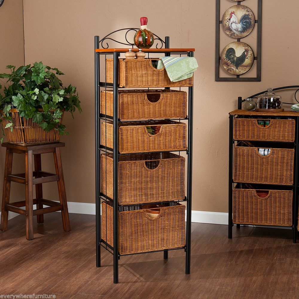 Brilliant Wicker Bathroom Storage Furniture U V Cabinet Unit with dimensions 1000 X 1000