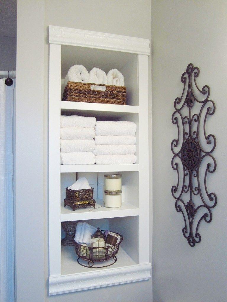 Built In Storage Between The Studs Bathroom Bathroom throughout dimensions 768 X 1024