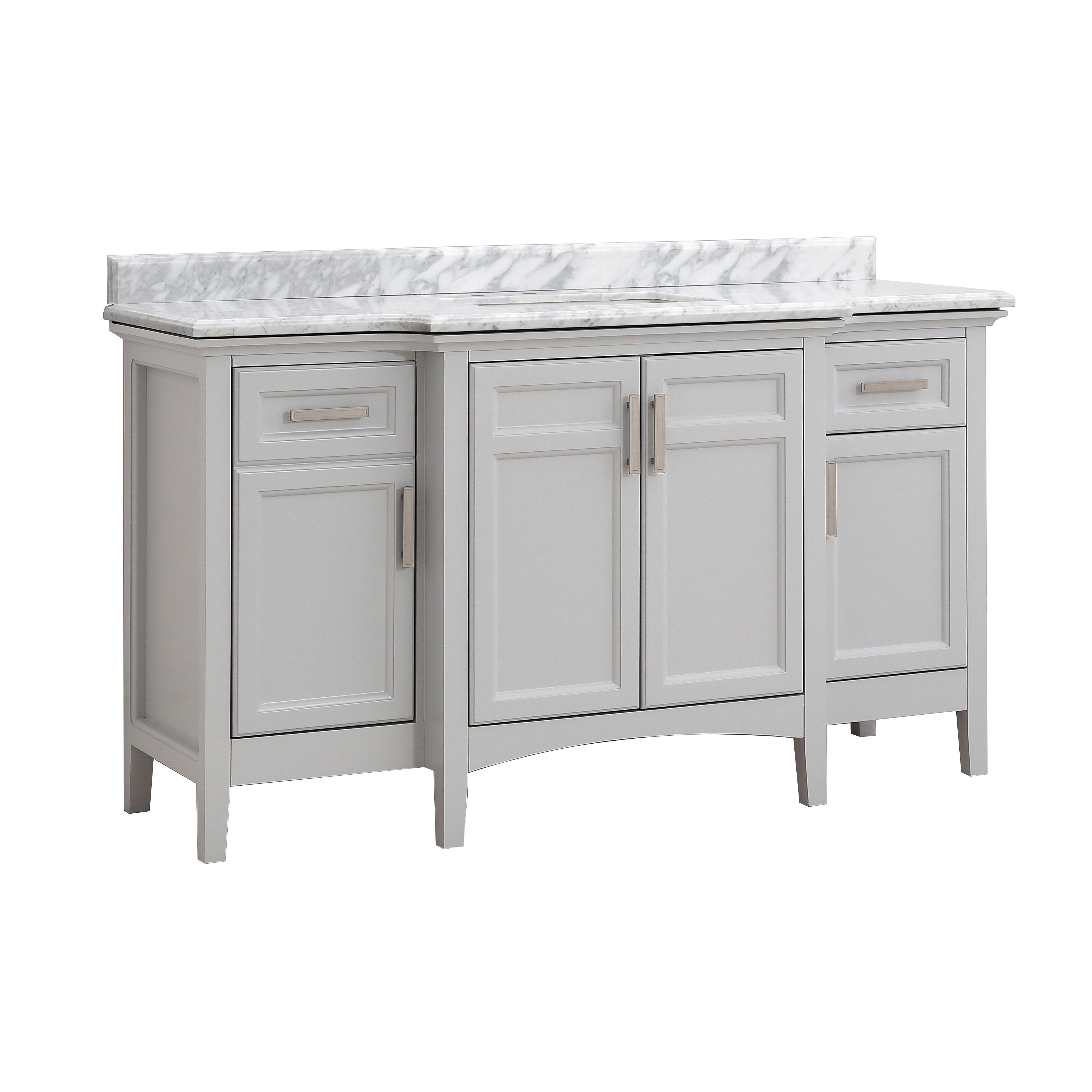 Cahaba Ellis 60 Inx 22 In Single Vanity In Dove Grey With with dimensions 3952 X 3953