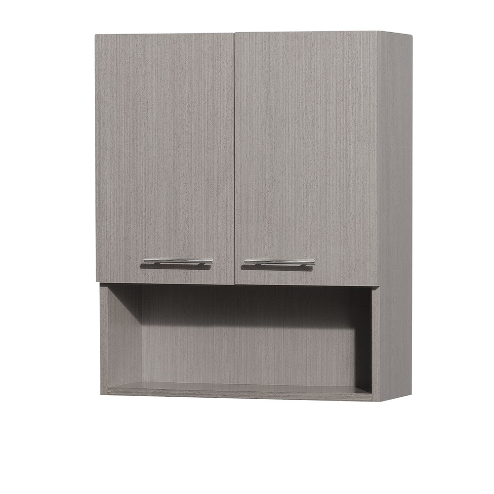 Centra Bathroom Wall Cabinet Wyndham Collection Gray Oak for measurements 1000 X 1000