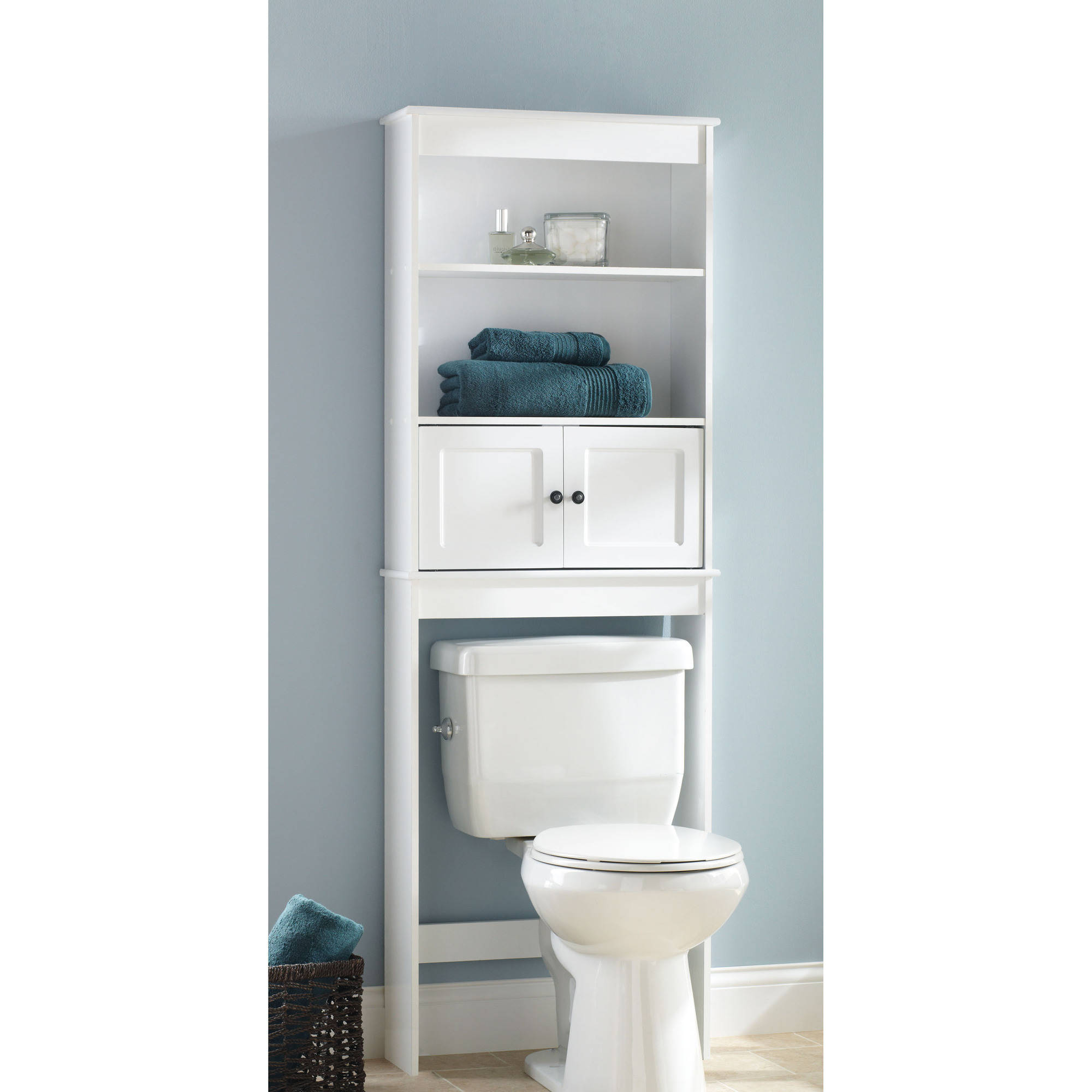 Chapter Bathroom Storage Over The Toilet Space Saver White regarding proportions 2000 X 2000