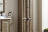 Chelles Bathroom Linen Storage Cabinet Gray Wash in measurements 1500 X 1500